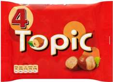 Topic Chocolate Bars (4 x 47g) pack was £1.79 now £1.00 @ Morrisons & Tesco