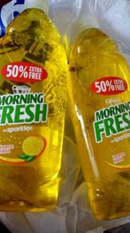 675ml(50%extra)cussons morning fresh washing up liquid(lemon/meadow)2 for 99p @ 99p store