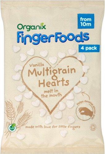 Organix 10 Mths+ Vanilla Multigrain Hearts (32g) (4 packs in one) was £1.99 now £1.00 @ Morrisons