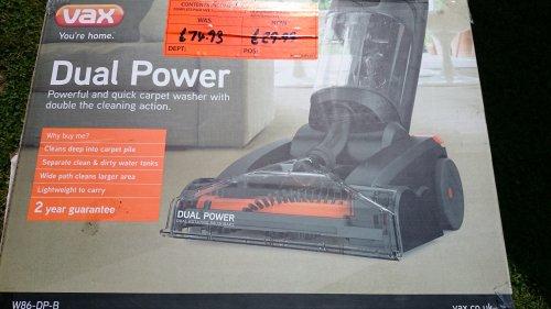 Vax W86 DP B Dual Power Upright Carpet Cleaner - £29.99 instore @ Homebase