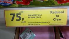 Bin Weevils 1 Figure Character Pack 75p - Reduced to clear @ Tesco instore