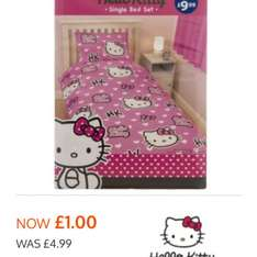 Hello kitty duvet set now £1.00 @ B&M