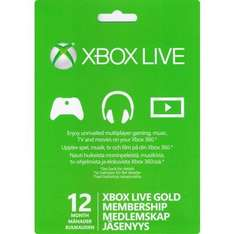 XBOX Live 12 Month Membership £21.95 Delivered @ TheGameCollection