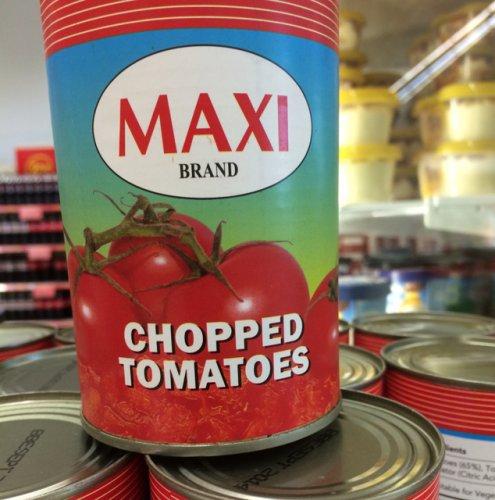 MAXI BRAND CHOPPED TOMATOES 10p @ Asda