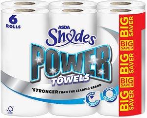Asda shades Power towels 6 rolls -£3.00 after coupon @ Asda