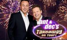 2 Free tickets for Ant & Dec's Takeaway on Tour with £60 spend at Various Morrisons on 2nd August