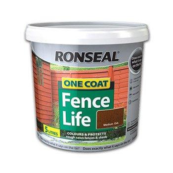 Ronseal One Coat Fencelife 5L Med Oak £2.98 @ Morrisons