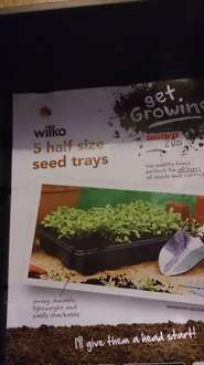 wilkos 5 half sized seed trays 20p @ Chatham Kent branch