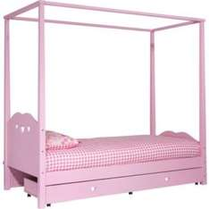 Ashley Four Poster Single Bed Frame - Pink. 738/9054 was £574 now £119 + £8.95 delivery @ Argos