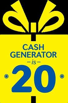 20% all preowned goods at selected cash generator stores