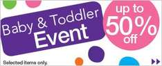 baby and toddler event @ babies r us upto 50% off