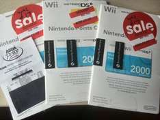 Nintendo Wii/DSi points card (2000 points) down to £5.00 @ Asda (Rochdale store)