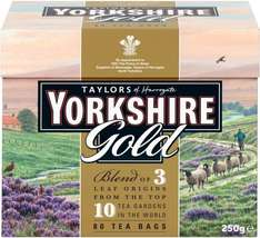 Taylors of Harrogate Yorkshire Gold Tea (80 Tea Bags) ONLY £1.59 @ Aldi