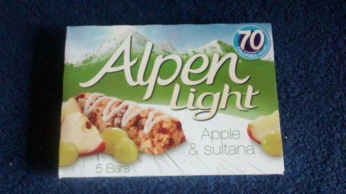 Alpen light cereal bars Apple  & Sultana (5 bars) 49p @ Tesco