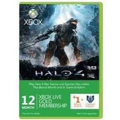 12 + 1 Month Xbox Live Gold Membership (13 months in total) + Halo 4 Corbulo Emblem (Xbox One/360) £23.33 with FB code @ CDKeys (Instant Key)