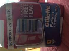Gillette Fusion 3 blade supporters pack £5 @ tesco