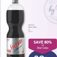 Lidl freeway 2 ltr diet cola down from 59p to 39p