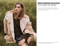 Free express delivery - automatically applied via link @ Topshop