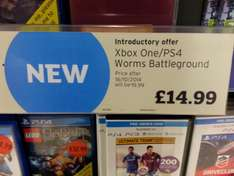 Worms Battlegrounds (PS4/Xbox One) £14.99 Instore @ Sainsbury's