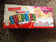 3 x Kinder eggs £1.29 reduced from £1.79 at Morrisons