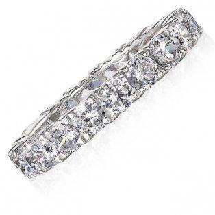 3 ct. Eternity Ring Stimulated Diamonds Tru Diamonds £53.95