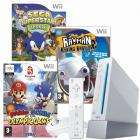 Wii Console + Mario and Sonic At Olympic Games, SEGA Superstars Tennis + Rayman 2 - £214.99 @ Game