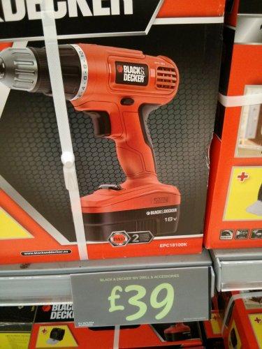 Black&Decker 18V drill £39 @ Asda instore