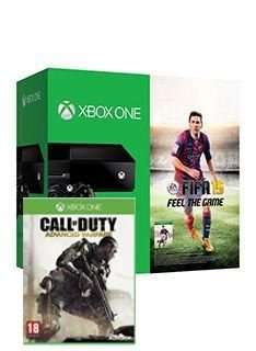 Xbox One Console (Black) with FIFA 15 + Call of Duty Advanced Warfare  for £349.99 @ Simply Games