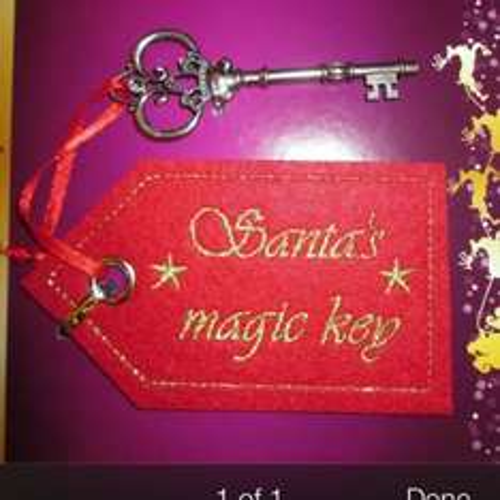 Santa Door Key - £1 @ Poundland