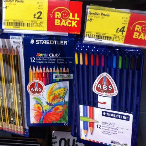 Staedtler ergo soft coloured pencils 12 pack £4 half price @ asda instore