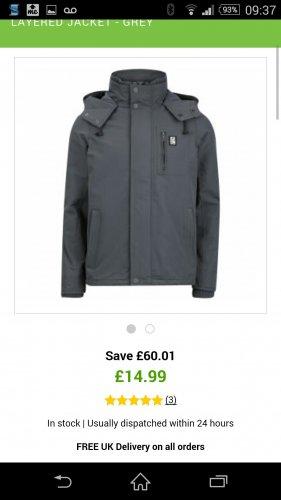over 75% off quality Crosshatch Mens double layered jacket £14.99 @ Zavvi