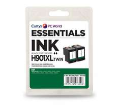 ESSENTIALS H901XL Black HP Ink Cartridges - Twin  97p @ PC World