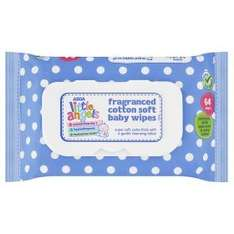 Little angels wipes 64p each or 5 for £3 @ Asda