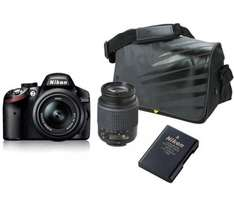 NIKON D3200 DSLR Camera with 18-55 mm + 55-200 mm Telephoto Zoom Lens & DSLR free Accessory Kit £339.00 @ Currys