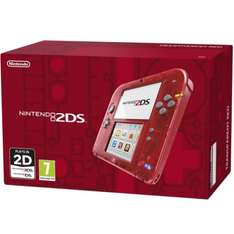 Nintendo 2DS Transparent Red, £89.99 at Nintendo UK Store. Free Delivery