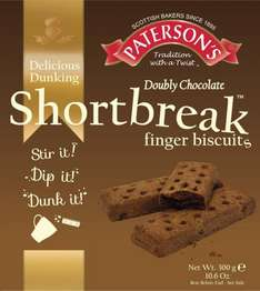Paterson's Doubly Chocolate Shortbreak Finger Biscuits 300g box-49p at Farmfoods