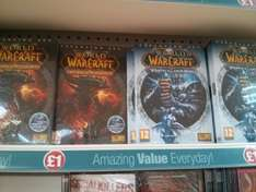 World of Warcraft expansions £1 each at poundland