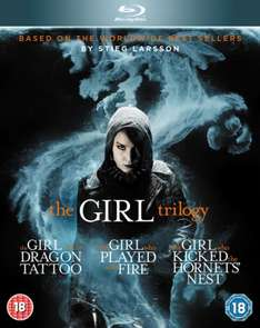 The Girl With The Dragon Tattoo Bluray Millenium Trilogy Boxset £6.99 at Zavvi