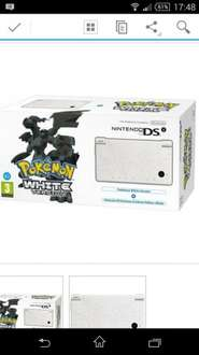 Nintendo DSi White Bundle (Includes Pokemon White) - NDS - Handheld Console £59.99 @thehutgroup eBay outlet 66% off