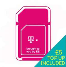 T-Mobile Pay as you go SIM including £5 credit only 99p @ ebay sold by ee-uk-shop