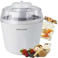 Andrew James Ice Cream, Sorbet and Frozen Yoghurt Maker Machine 1.45 Litre + 128 Page Recipe Book  (Reduced from £69.95) £27.98 delivered @ Amazon/ Andrew James UK