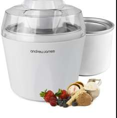Andrew James Ice Cream, Sorbet and Frozen Yoghurt Maker Machine 1.45 Litre With Additional/Spare Freezable Ice Cream Bowl + 128 Page Recipe Book (Reduced from £88.99) £37.98 delivered @ Amazon/ Andrew James UK