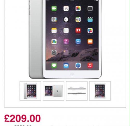 Apple iPad mini 2 £209 @ Currys