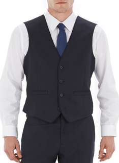 NAVY TAILORED FIT TIPPED SUIT WAISTCOAT( Just Extra Small) £6 @ Burton
