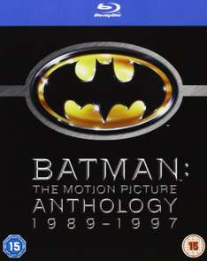 Batman: The Motion Picture Anthology 1989-1997 [Blu-ray][Region Free] [2005] £8.90  @Amazon (free del with prime/£10 spend)