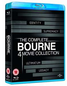 The Complete Bourne 4 Movie Collection [Blu-ray] for £8.80 @ Amazon