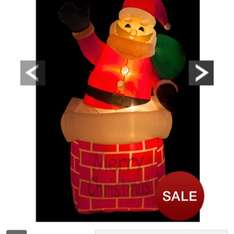 Outdoor Inflatable Light Up Santa In Chimney £30.00 @ Very