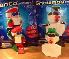 Santa and Snowman Model £1 each In-Store - Great Christmas Fun / Decoration / Filler item @ Poundland