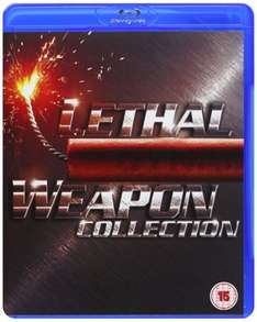 Lowest Ever Amazon Price. Not a lightning deal! Lethal Weapon Collection 1-4 [Blu-ray] [2005] [Region Free]. £7.95  (Free Super Saver delivery £10 spend/prime)