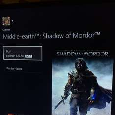 Shadows of mordor £27.50 @ Xbox / Dashboard (WIth Gold)